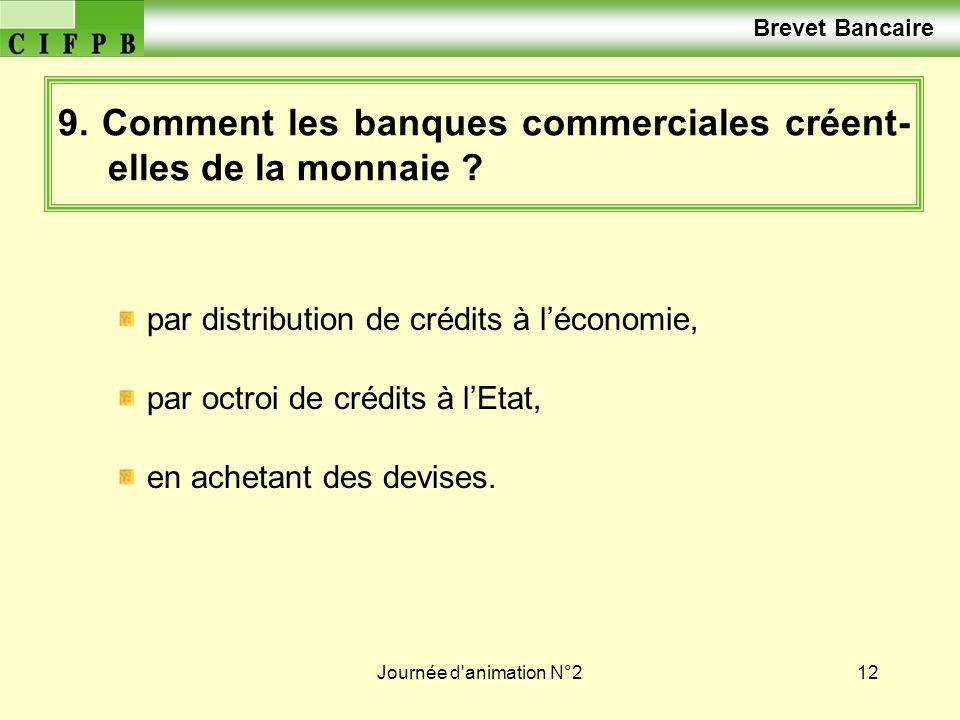 9. Comment les banques commerciales créent-elles de la monnaie