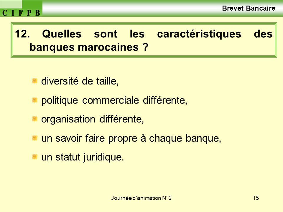12. Quelles sont les caractéristiques des banques marocaines