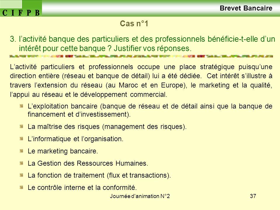 Brevet Bancaire Cas n°1.
