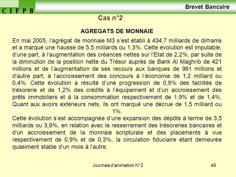 Brevet Bancaire Cas n°2 AGREGATS DE MONNAIE