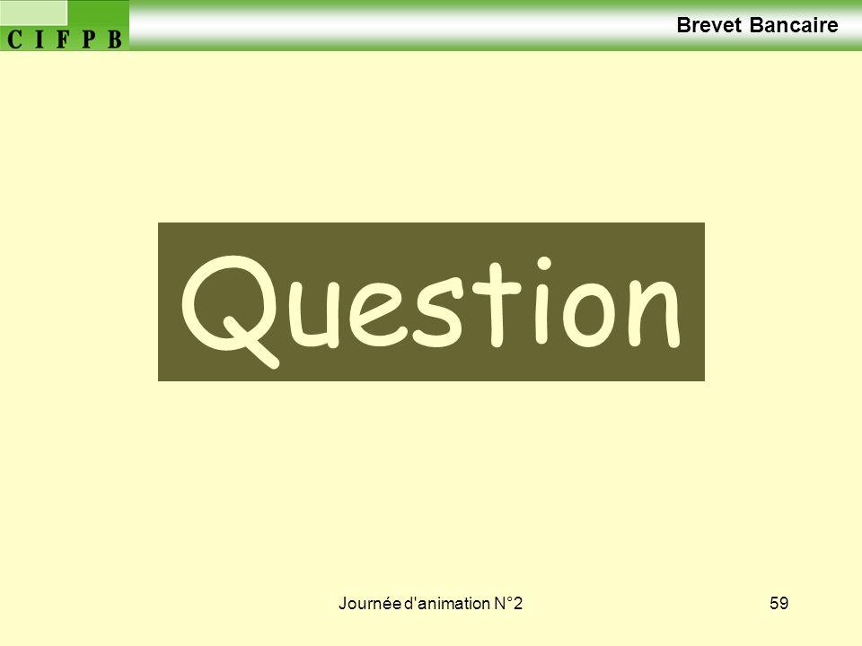 Brevet Bancaire Vos Questions Journée d animation N°2