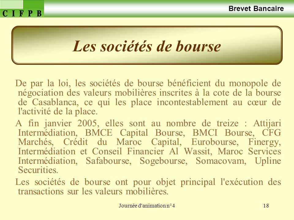 Les sociétés de bourse Brevet Bancaire