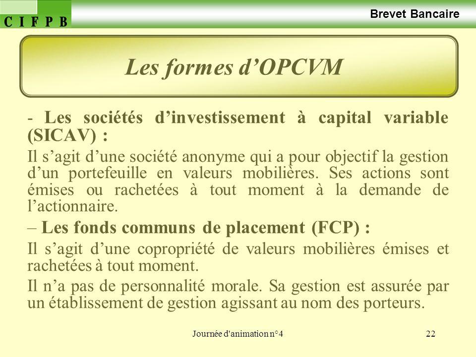 Les formes d'OPCVM Les fonds communs de placement (FCP) :