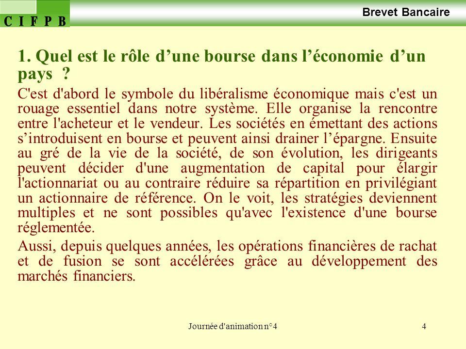 Quel est le rôle d'une bourse dans l'économie d'un pays
