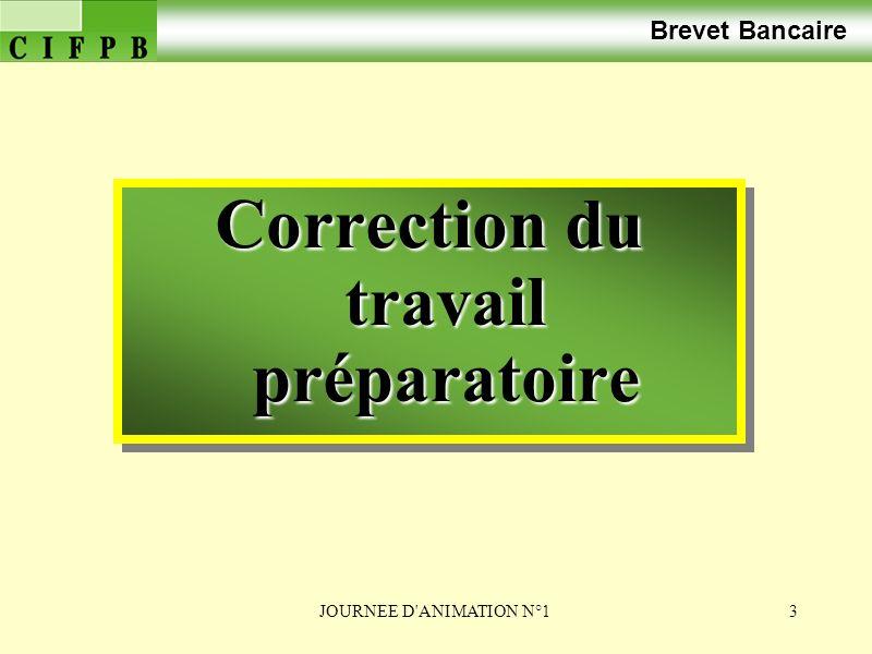 Correction du travail préparatoire