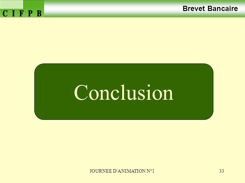 Brevet Bancaire Conclusion JOURNEE D ANIMATION N°1