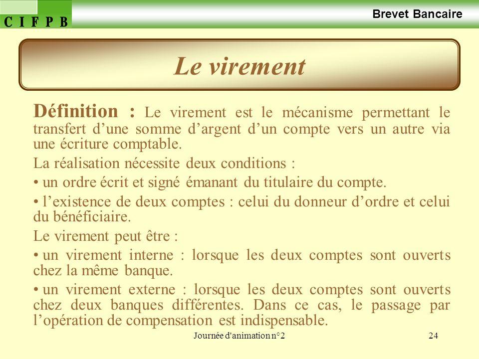 Brevet Bancaire Le virement.