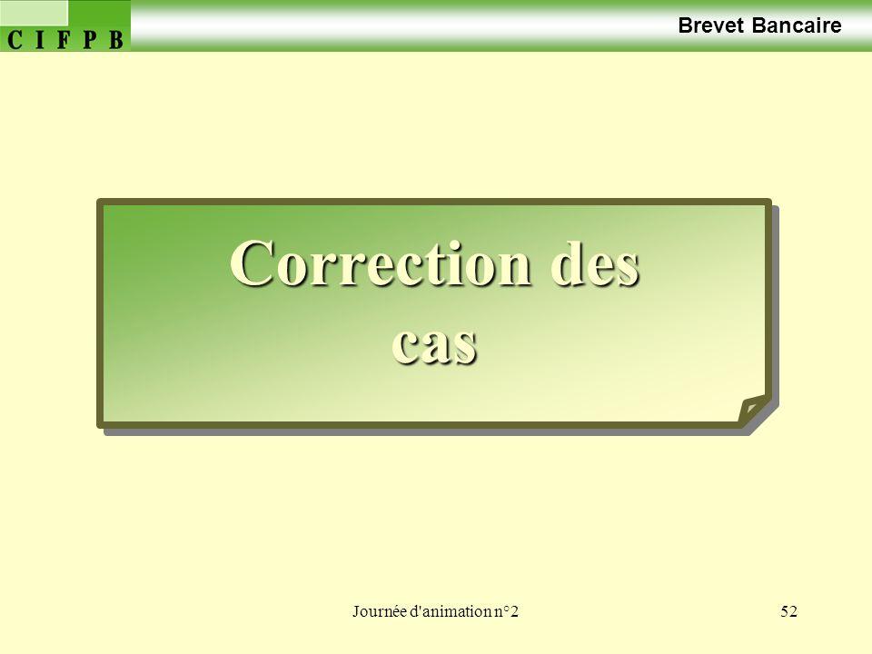 Brevet Bancaire Correction des cas Journée d animation n°2
