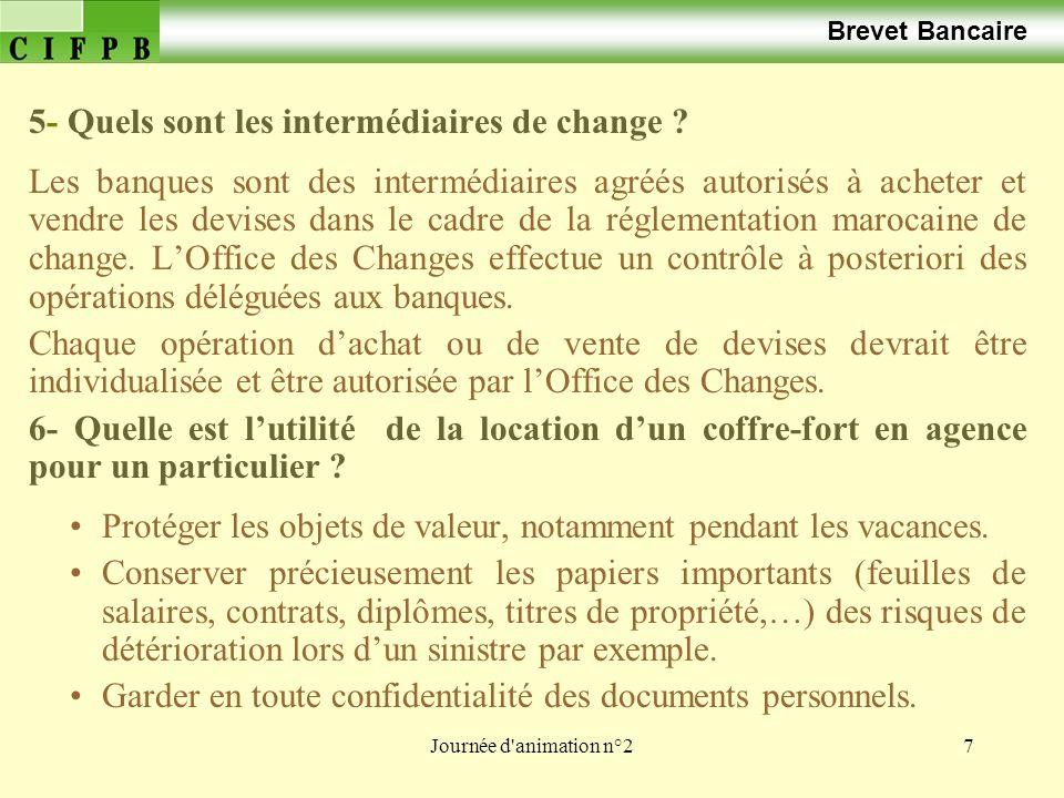 5- Quels sont les intermédiaires de change