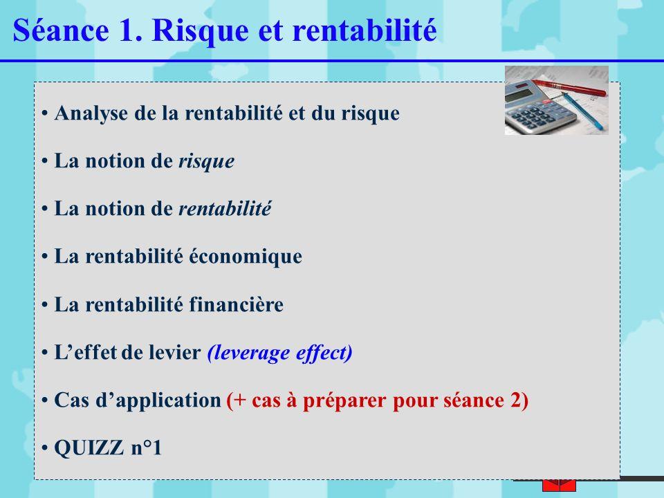Séance 1. Risque et rentabilité
