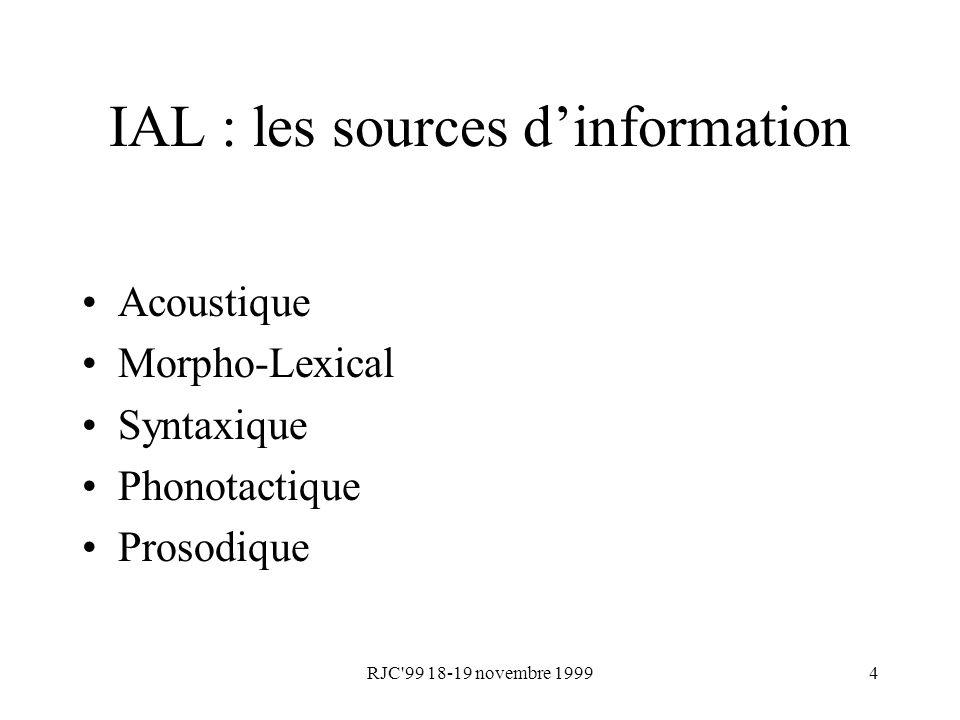 IAL : les sources d'information