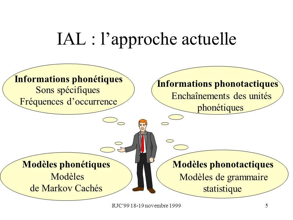 IAL : l'approche actuelle