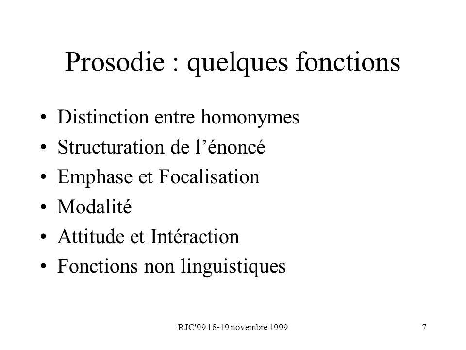 Prosodie : quelques fonctions