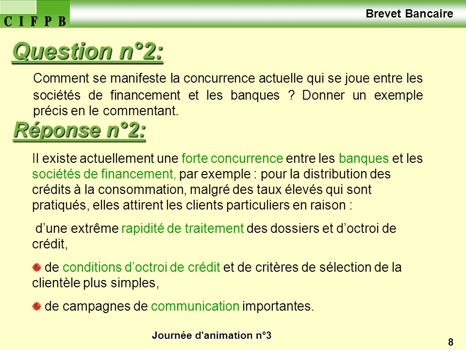 Question n°2: Réponse n°2: