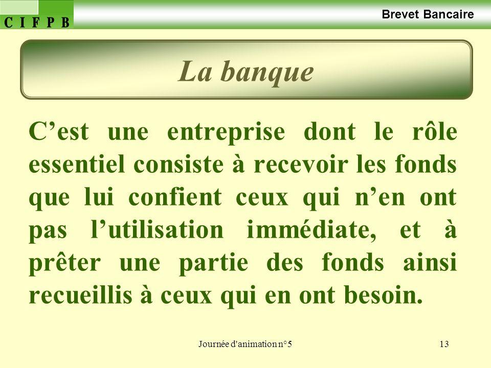Brevet Bancaire La banque.