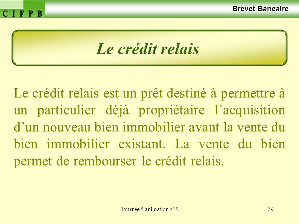 Brevet Bancaire Le crédit relais.