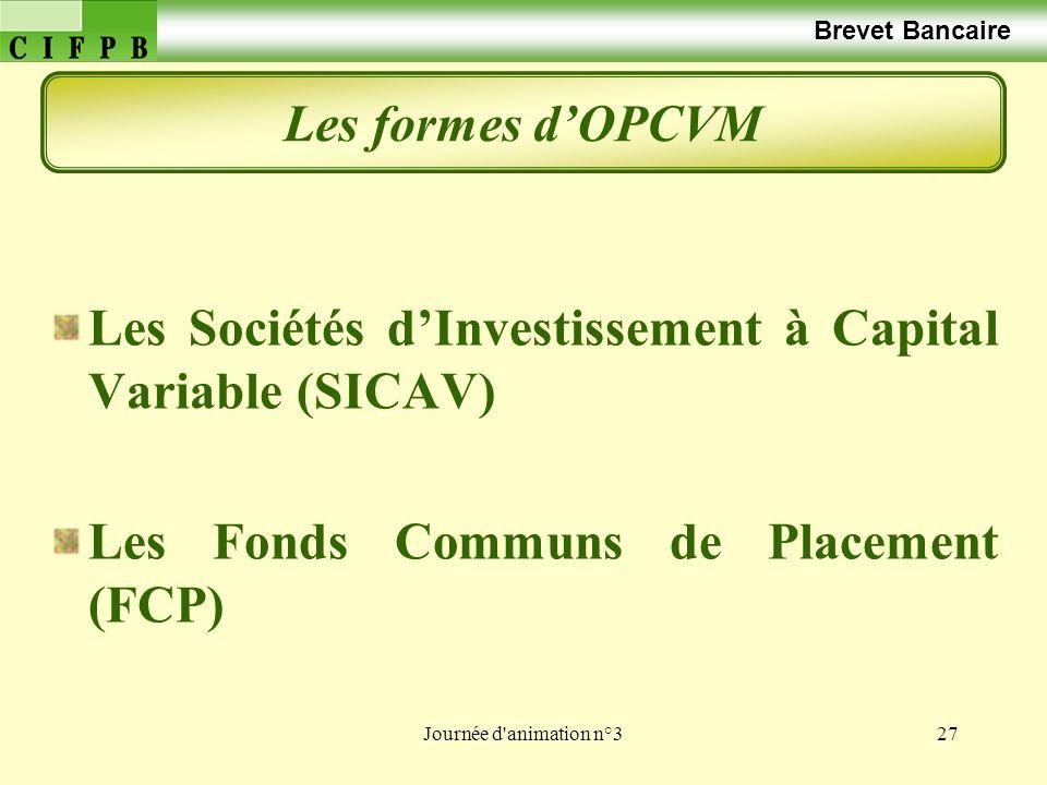 Les Sociétés d'Investissement à Capital Variable (SICAV)