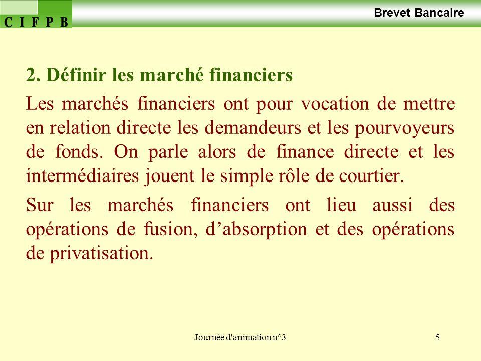 2. Définir les marché financiers