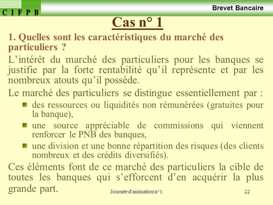 Brevet Bancaire Cas n° 1. 1. Quelles sont les caractéristiques du marché des particuliers