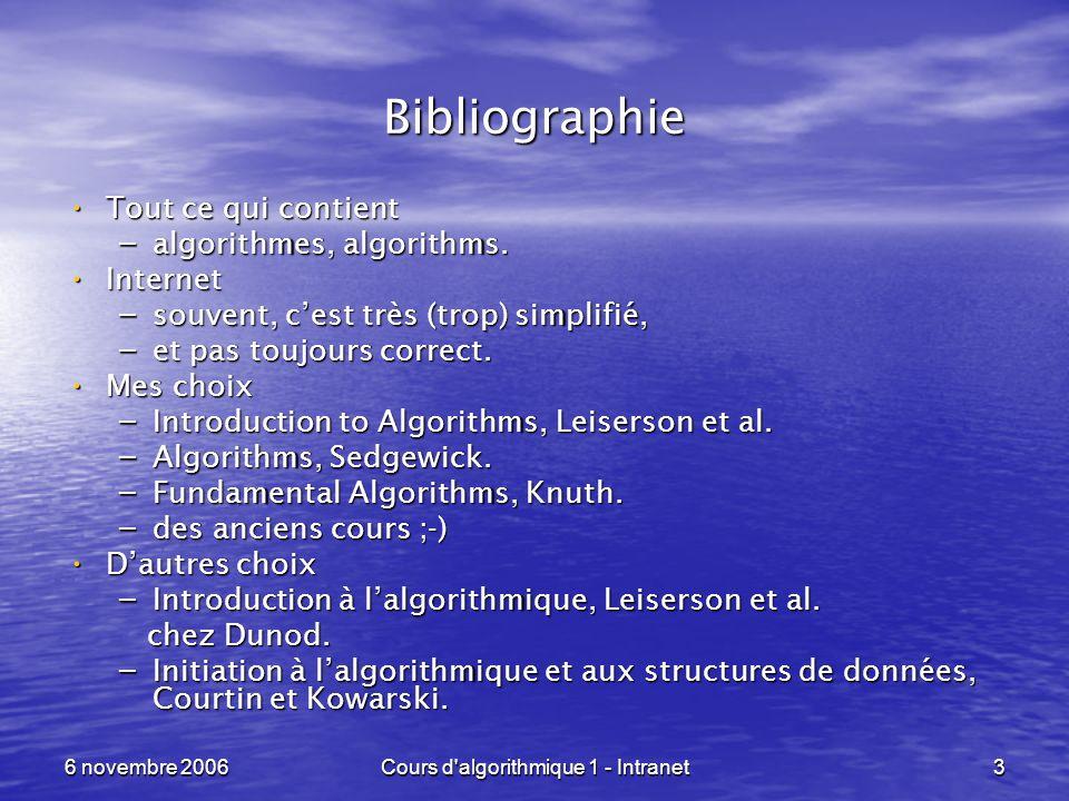 Cours d algorithmique 1 - Intranet