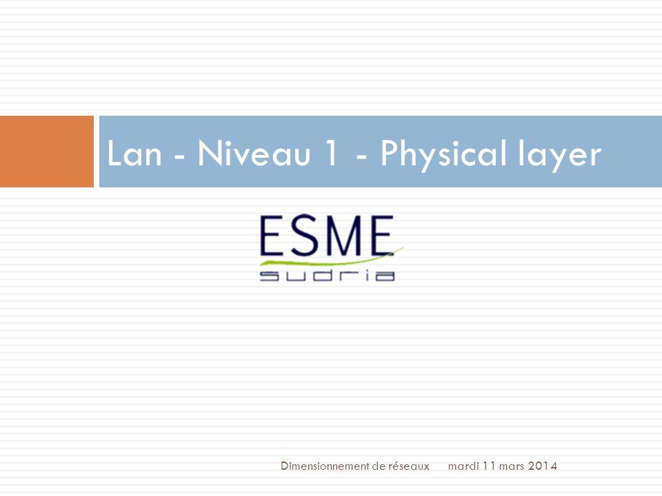 Lan - Niveau 1 - Physical layer