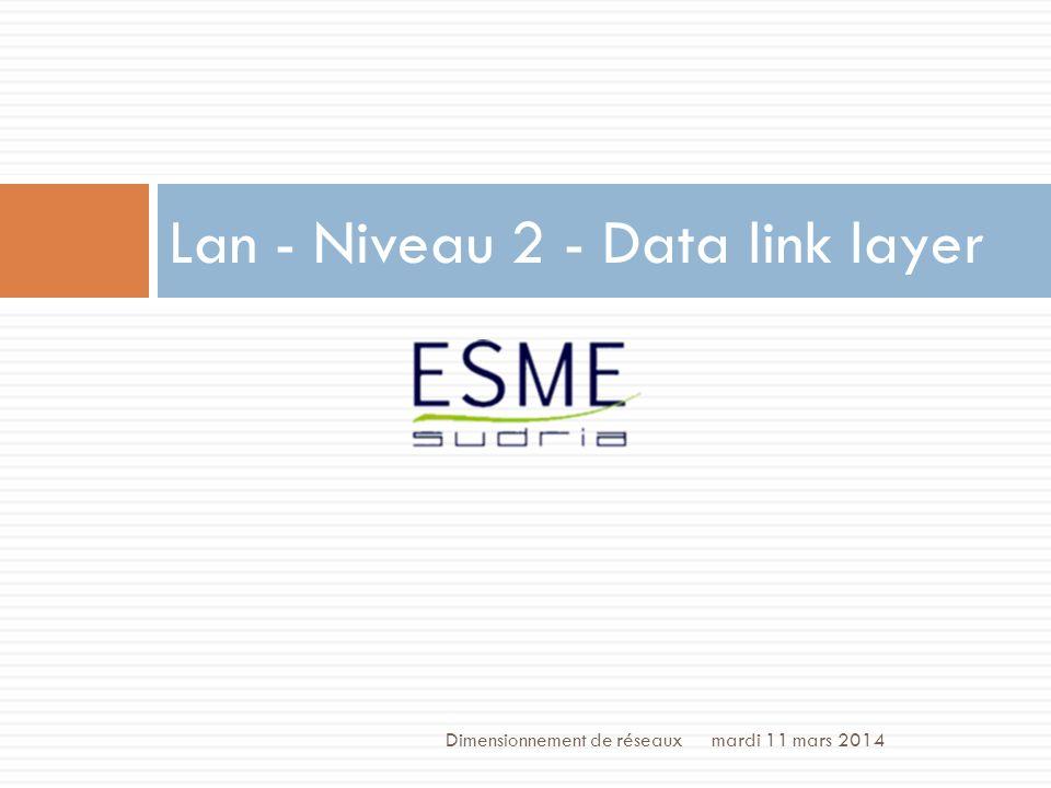 Lan - Niveau 2 - Data link layer