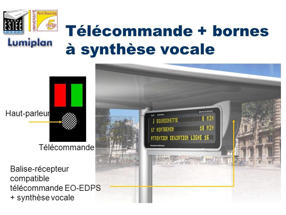 Télécommande + bornes à synthèse vocale