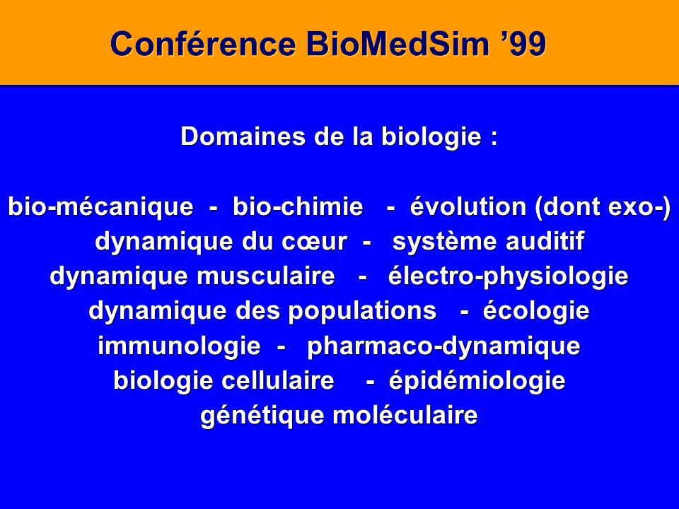 Conférence BioMedSim '99