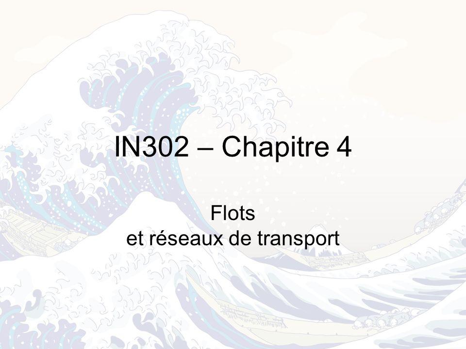 Flots et réseaux de transport