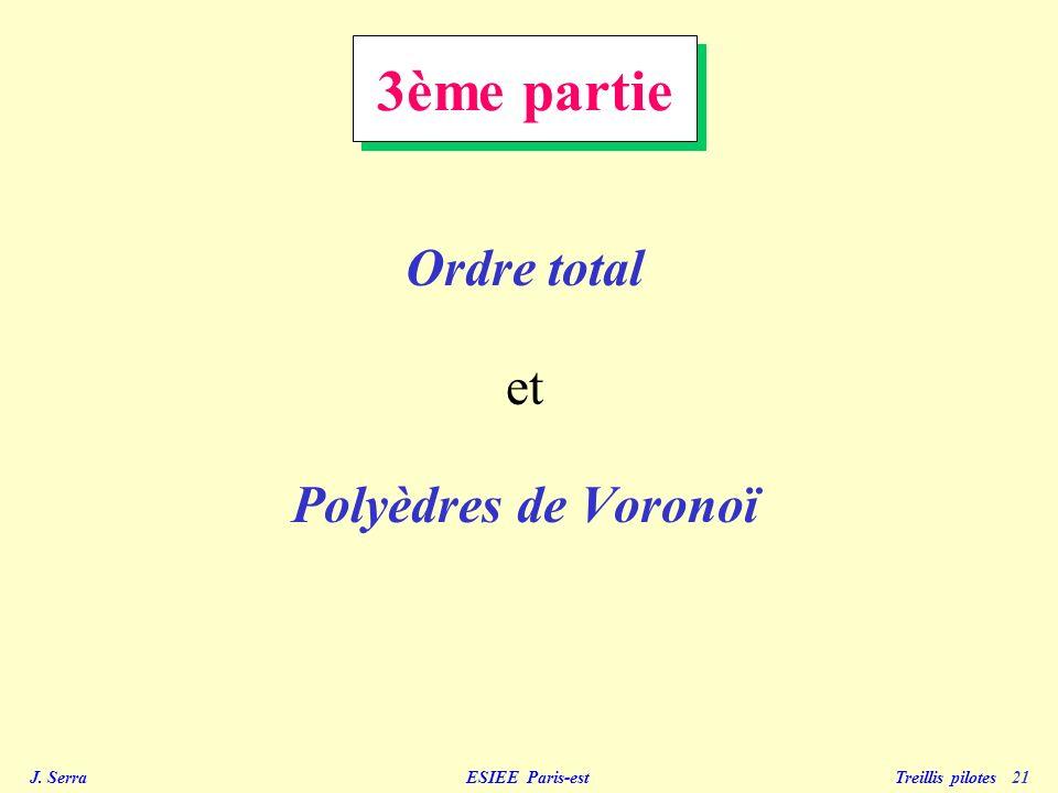 3ème partie Ordre total et Polyèdres de Voronoï