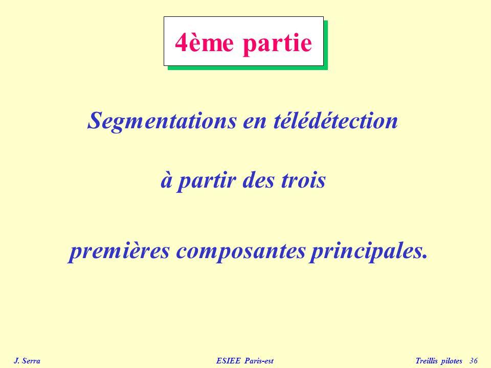 Segmentations en télédétection premières composantes principales.