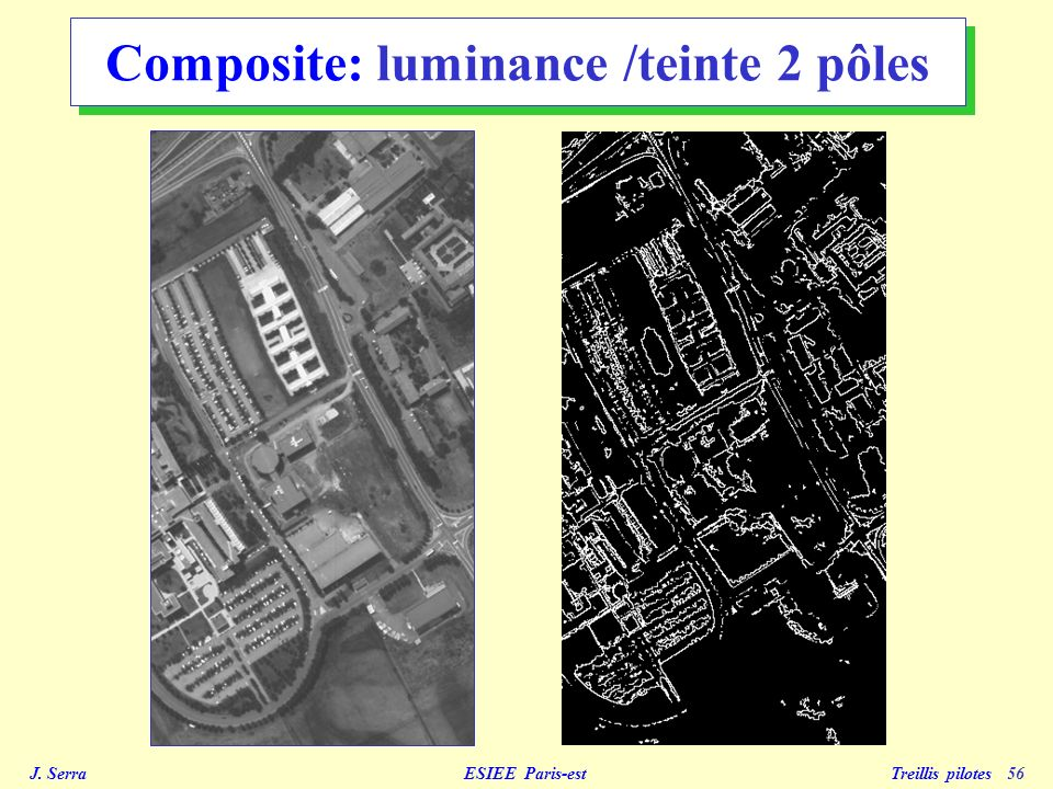 Composite: luminance /teinte 2 pôles