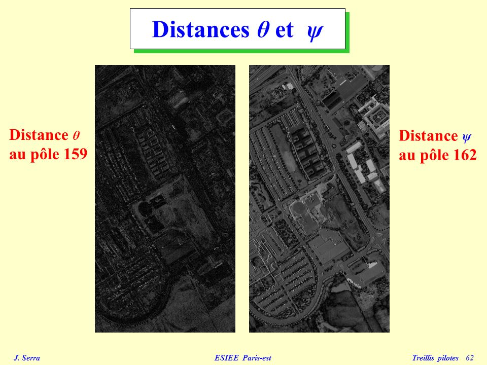 Distances θ et ψ Distance θ au pôle 159 Distance ψ au pôle 162