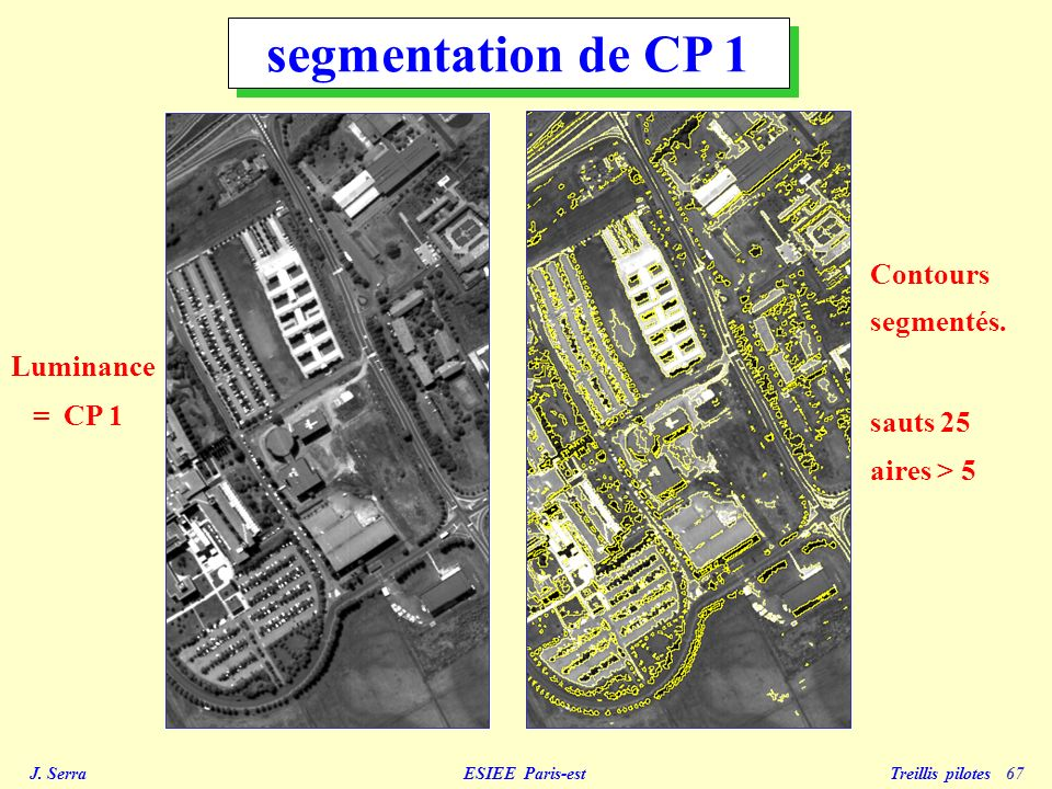 segmentation de CP 1 Contours segmentés. sauts 25 Luminance