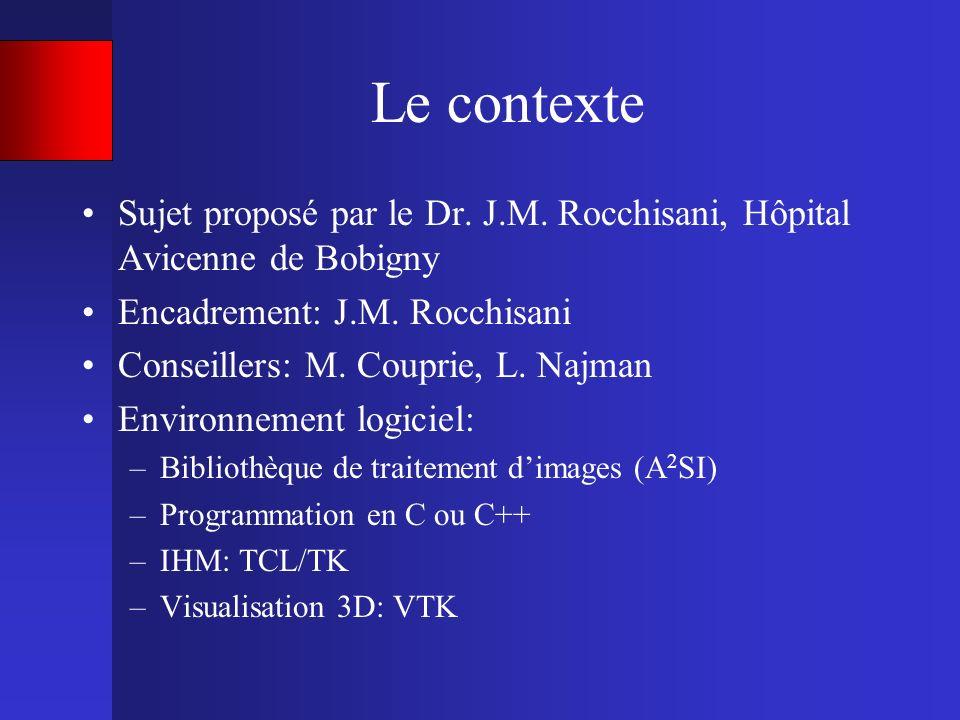 Le contexte Sujet proposé par le Dr. J.M. Rocchisani, Hôpital Avicenne de Bobigny. Encadrement: J.M. Rocchisani.