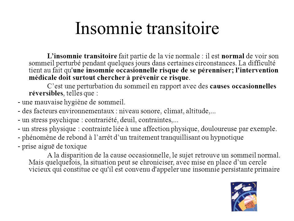 Insomnie transitoire