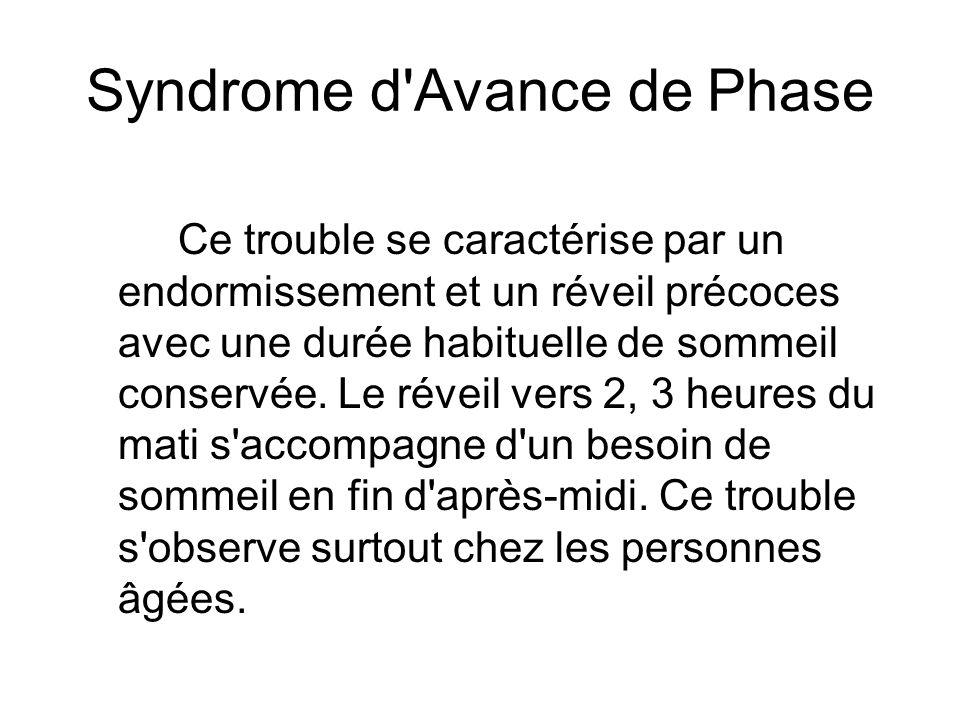 Syndrome d Avance de Phase
