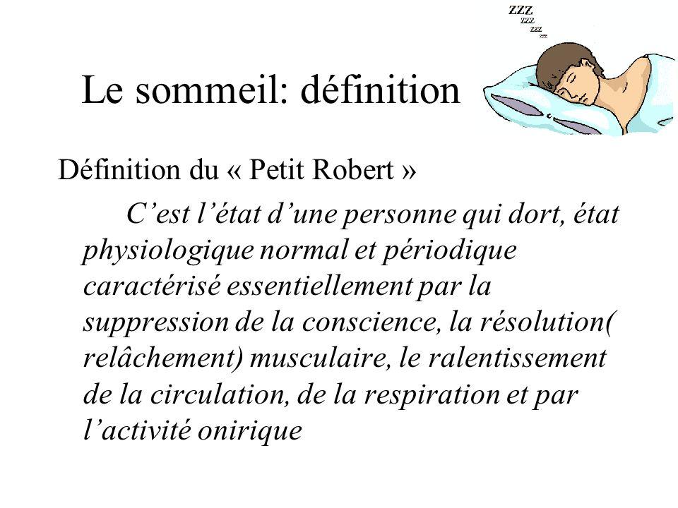 Le sommeil: définition