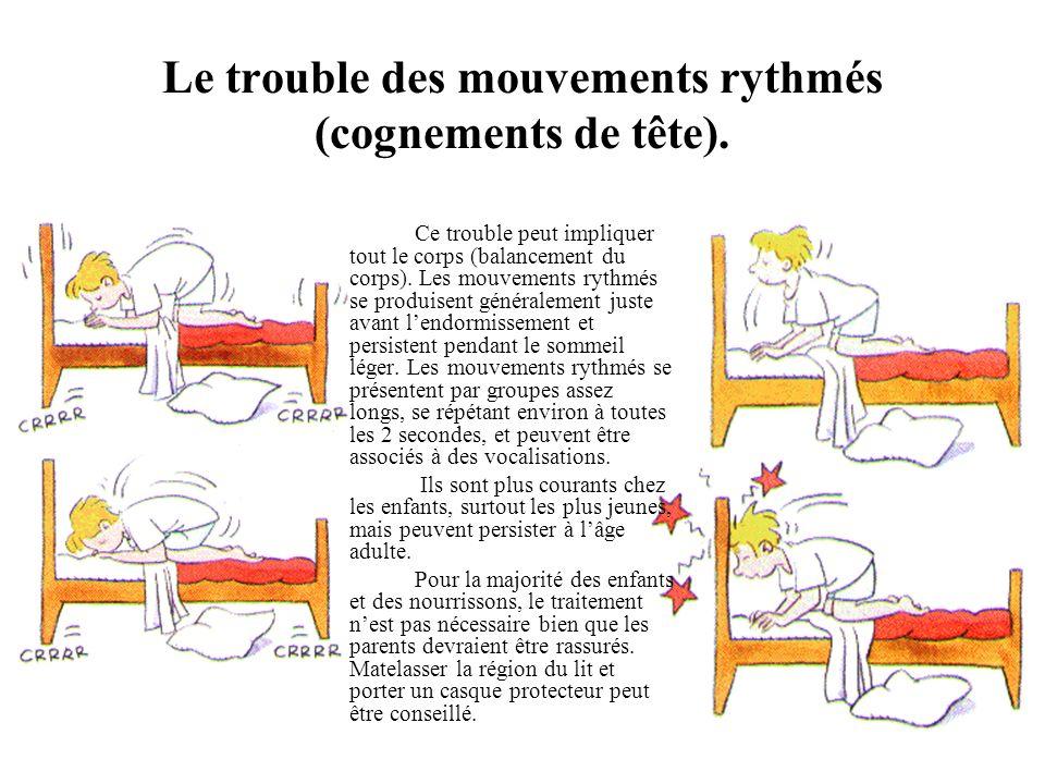 Le trouble des mouvements rythmés (cognements de tête).