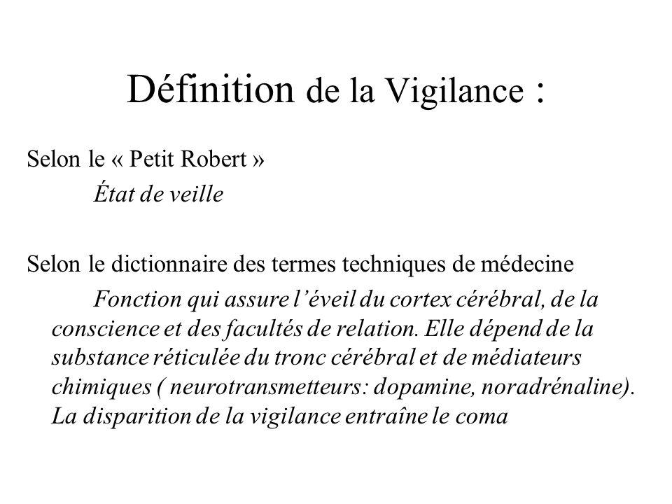 Définition de la Vigilance :