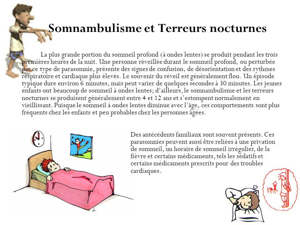 Somnambulisme et Terreurs nocturnes