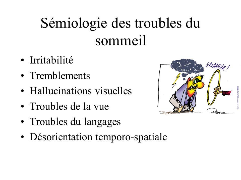 Sémiologie des troubles du sommeil
