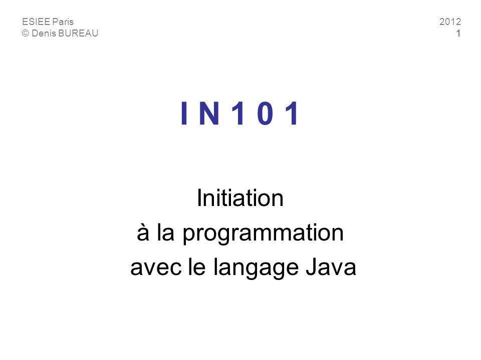 Initiation à la programmation avec le langage Java