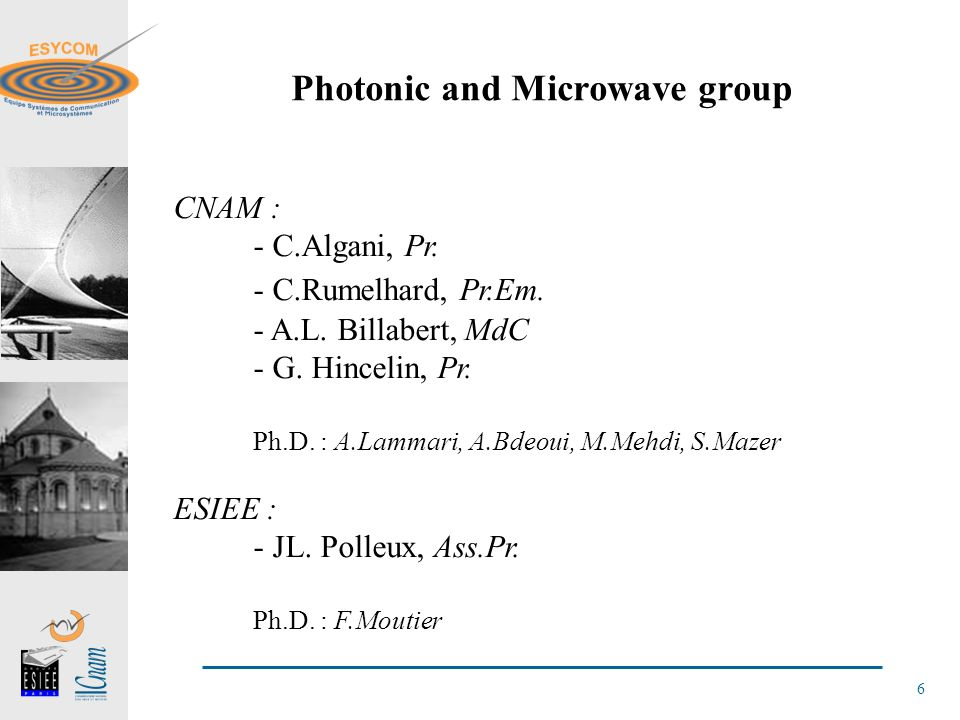 Photonic and Microwave group