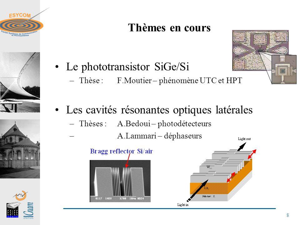 Le phototransistor SiGe/Si