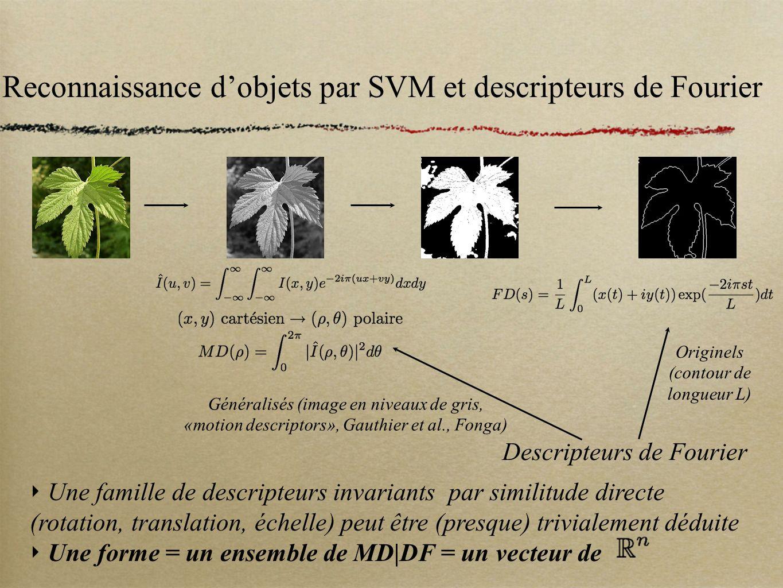 Reconnaissance d'objets par SVM et descripteurs de Fourier