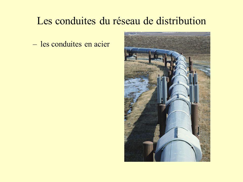 Les conduites du réseau de distribution