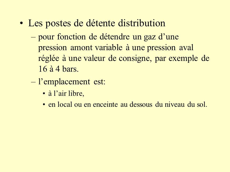 Les postes de détente distribution