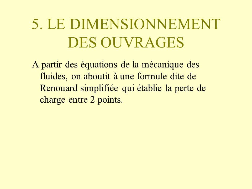 5. LE DIMENSIONNEMENT DES OUVRAGES