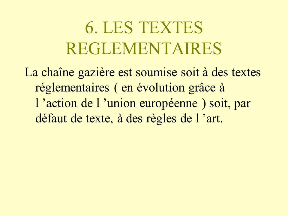 6. LES TEXTES REGLEMENTAIRES